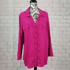 Soft Surroundings button front shirt size xl